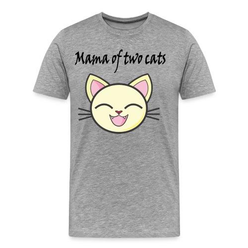 Katzen mama Katzenshirt - Männer Premium T-Shirt