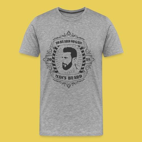 No Beard No Pain - T-shirt Premium Homme