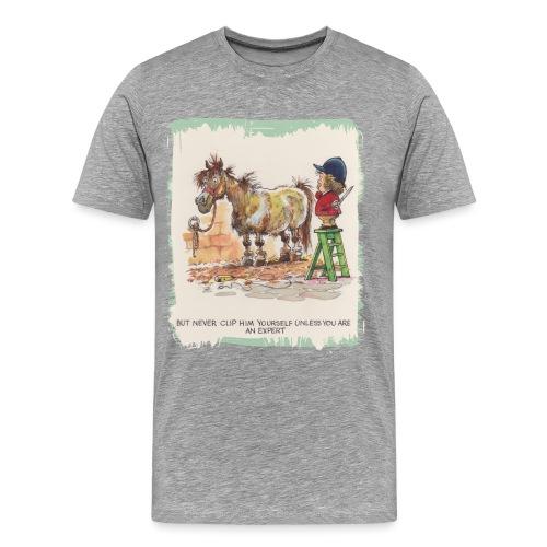 Thelwell Cartoon Pony beim Friseur - Männer Premium T-Shirt