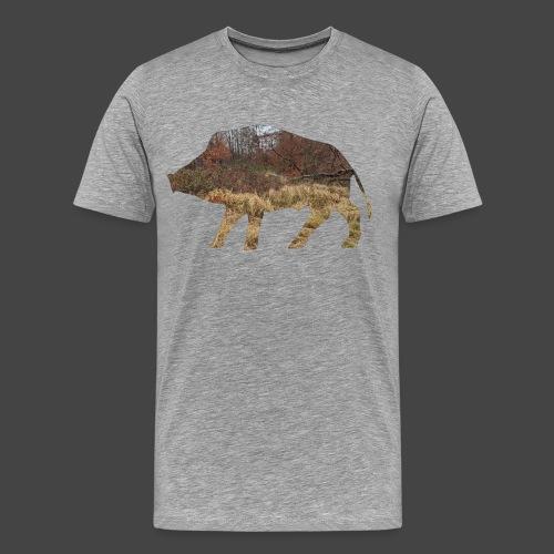 Wildsaudickungtapeten-Sau-Shirt für Jäger/innen - Männer Premium T-Shirt