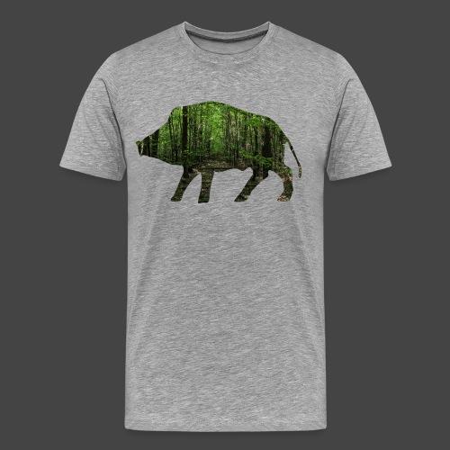 Waldtapeten-Sau-Shirt für Jäger/innen - Männer Premium T-Shirt