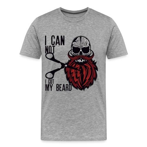 tete de mort citation skull hipster crane moustach - T-shirt Premium Homme