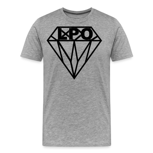LPO Diamand Schwarz png - Männer Premium T-Shirt