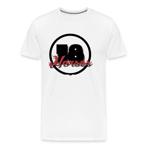 18 Horses - NKPG (White) - Premium-T-shirt herr