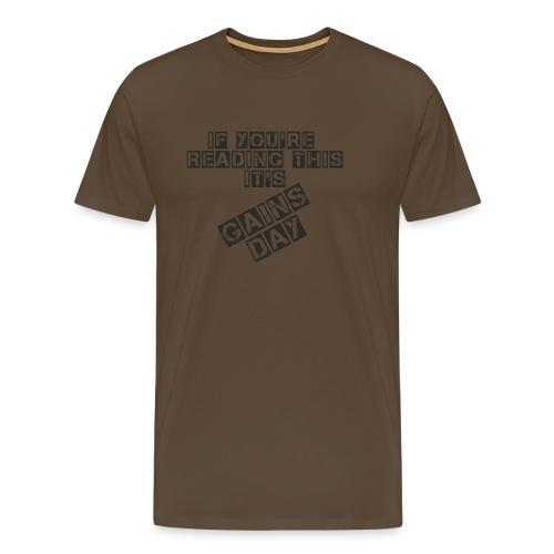 gainsday - Herre premium T-shirt