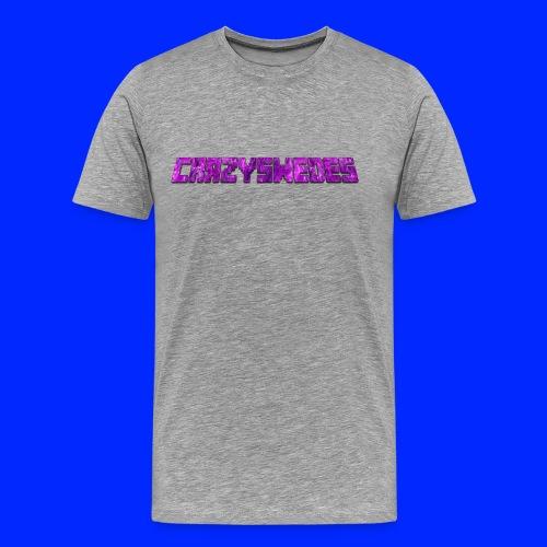 CrazySwedes PurpleThunder - Premium-T-shirt herr