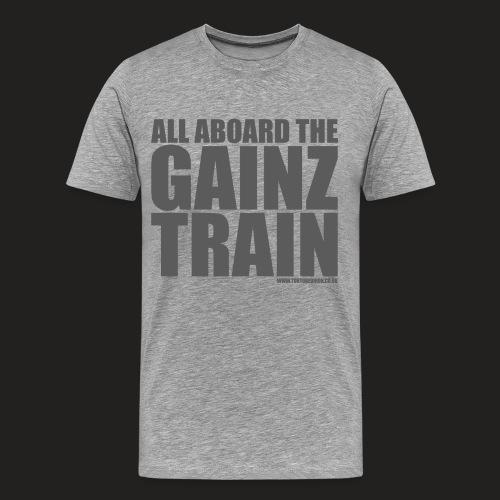 G TRAIN grey png - Men's Premium T-Shirt