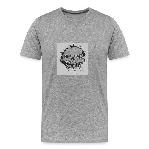 calavera gris - Camiseta premium hombre