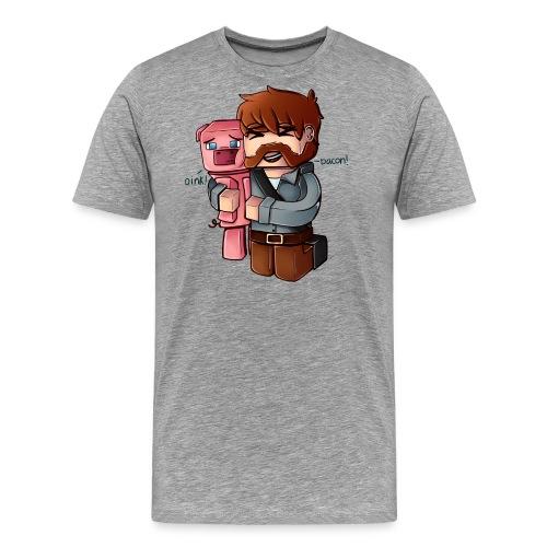 BaconNoBG png - Premium T-skjorte for menn