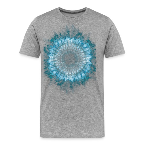 Indigo Blau Mandala - Männer Premium T-Shirt