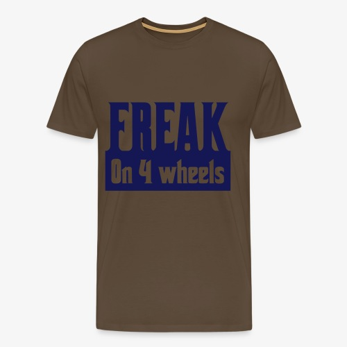 Gek op vier rolstoel wielen - Mannen Premium T-shirt