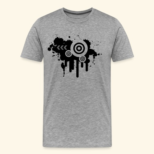 Black Grunge Vector - Men's Premium T-Shirt