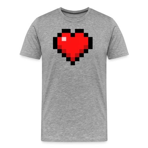 pixelheart png - Männer Premium T-Shirt