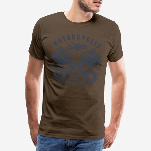 Motorrad benutzerdefinierte Vintage Biker - Männer Premium T-Shirt