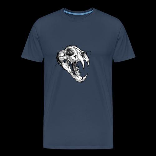 Teschio Tigre - Maglietta Premium da uomo