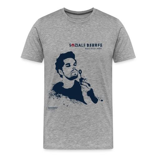 02 motiv mann ohne spruch grau png - Männer Premium T-Shirt