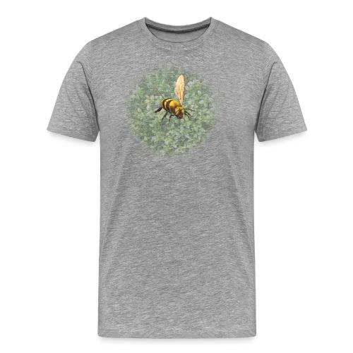 biene mit pflanze - Männer Premium T-Shirt