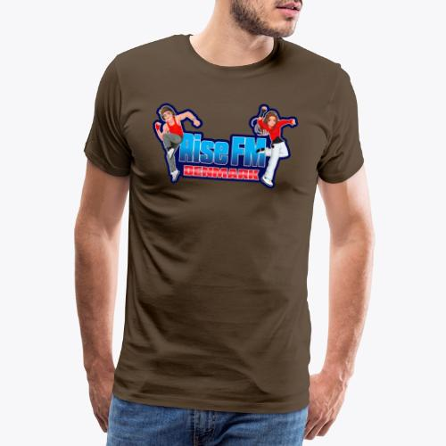 Rise FM Denmark Full Logo - Herre premium T-shirt