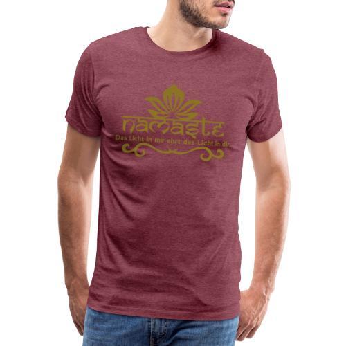 Namaste der Gruss in der Yogapraxis Ehrehrbietung - Männer Premium T-Shirt