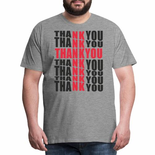 Motyw z napisem Thank You - Koszulka męska Premium