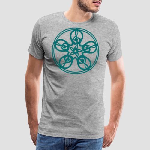 Treble Clef Mandala (teal) - Men's Premium T-Shirt