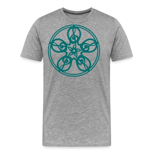 CELTIC CLEF MANDALA (teal) - Men's Premium T-Shirt