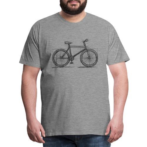 Skizzefahrrad Bleistift - Männer Premium T-Shirt
