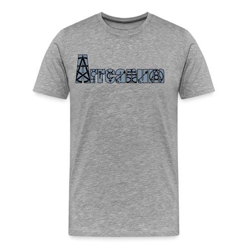 Arrcanum Logo Schrift gra - Männer Premium T-Shirt