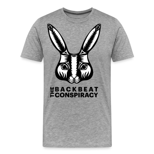 The Backbeat Conspiracy - Rabbit+Black Logo - Men's Premium T-Shirt