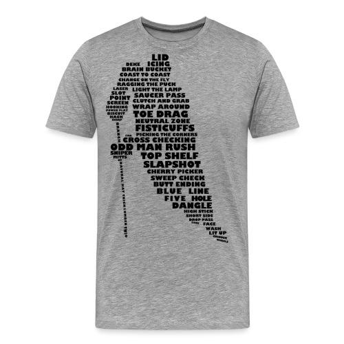 Language of Hockey (Black) - Men's Premium T-Shirt