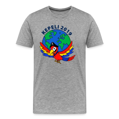 kepeli2019 logo - Miesten premium t-paita