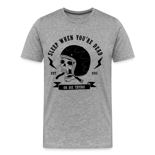 skull-dy-trying - T-shirt Premium Homme