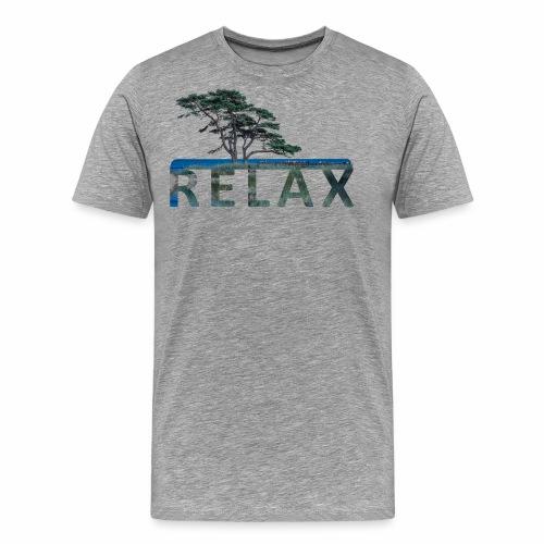 RELAX - unterm Baum am Strand - Männer Premium T-Shirt