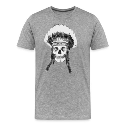 skull indian headdress - Mannen Premium T-shirt