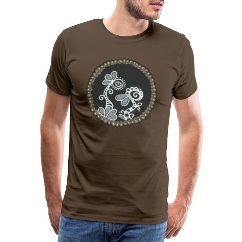 Lalie la plante et Lupus le chien - T-shirt Premium Homme