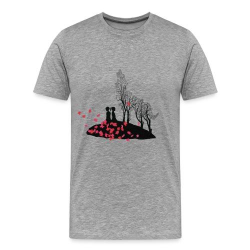 Vargmotiv - Premium-T-shirt herr