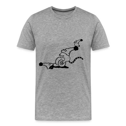müde Freunde Schnecke Maus und Vogel - Männer Premium T-Shirt