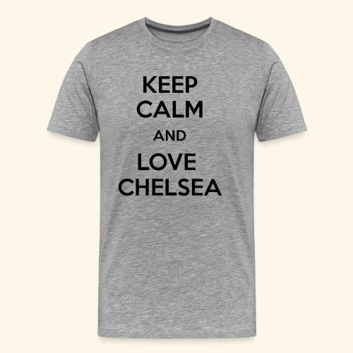 keep calm and love chelsea - Men's Premium T-Shirt