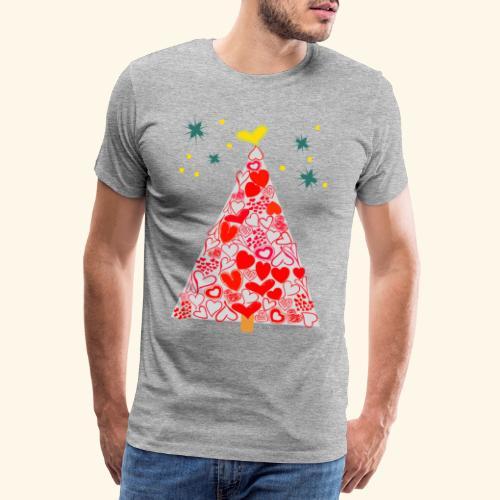 Christbaum der Herzen - Männer Premium T-Shirt