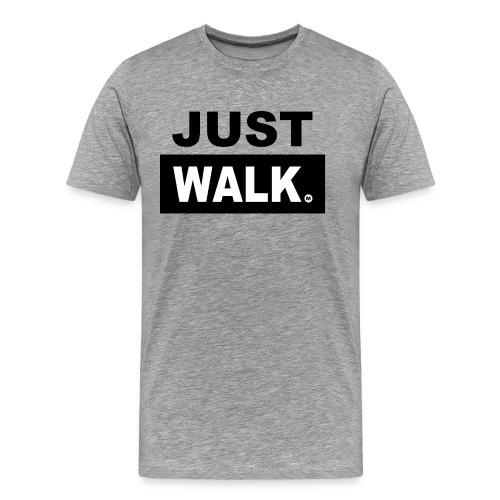 JUST WALK mannen zw - Mannen Premium T-shirt