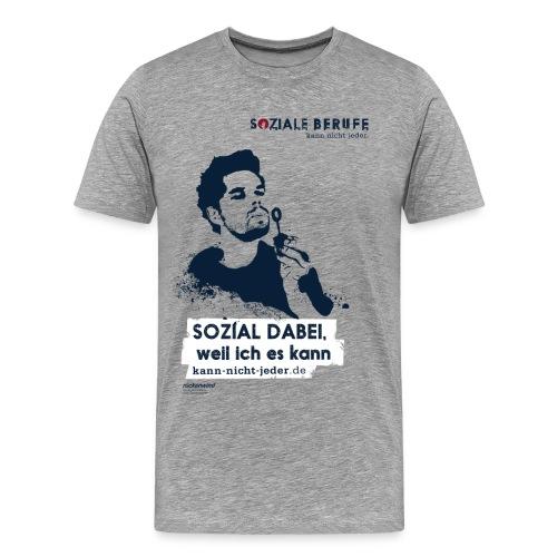 02 motiv mann mit spruch grau png - Männer Premium T-Shirt