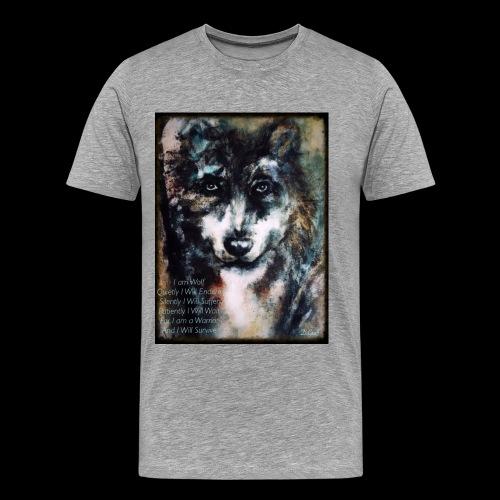 wolf - Mannen Premium T-shirt