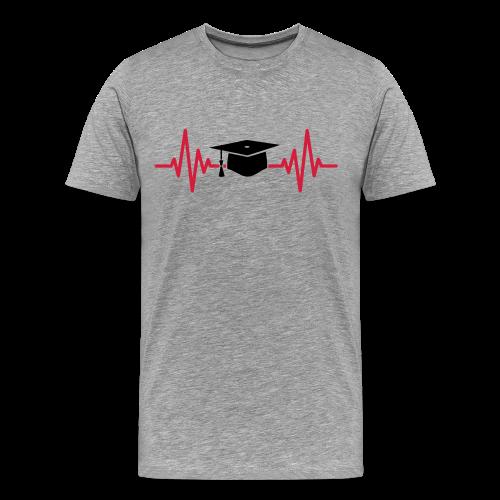Doktorhut Herzschlag EKG Medizin Arzt Geschenk - Männer Premium T-Shirt