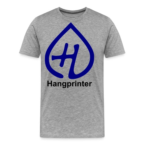 Hangprinter logo and text - Premium-T-shirt herr