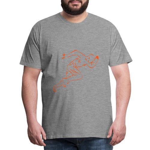 running_man - Männer Premium T-Shirt