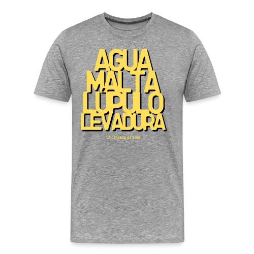 Cerveza Ingredientes Naturales - Camiseta premium hombre