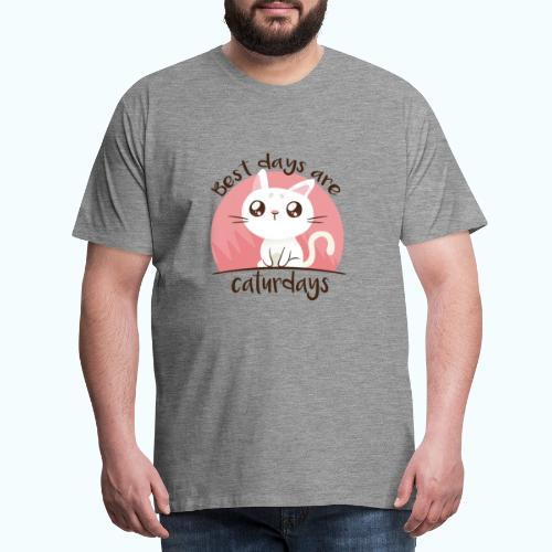 Saturdays - NO - Caturdays - Men's Premium T-Shirt