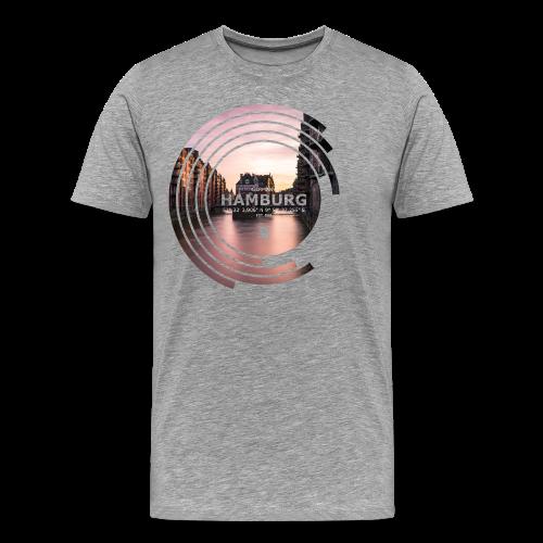 Hamburg Geometrische Form Kreis Spectrum - Männer Premium T-Shirt