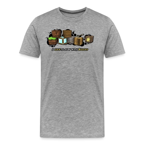 I love to play with Blocks - Men's Premium T-Shirt