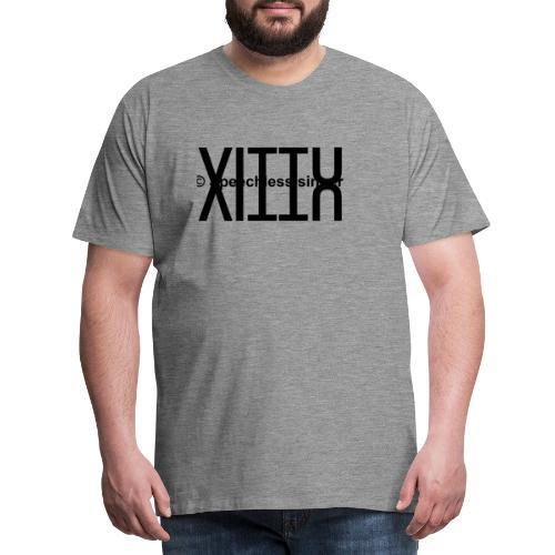 Musta vittu logo - Miesten premium t-paita
